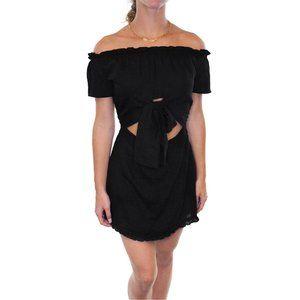 ETIQUETTE Off Shoulder Exposed Front Dress #AF18